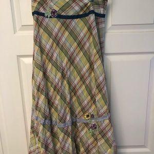 - Madras plaid maxi skirt